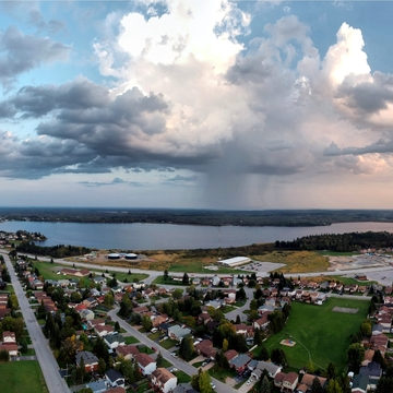 Rain over Porcupine Lake