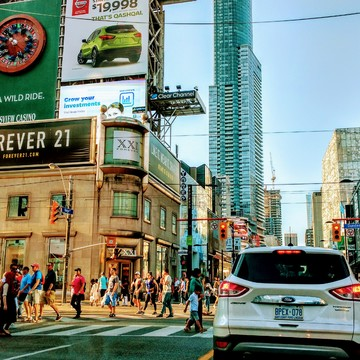 hot weather in downtown Toronto