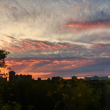 Sunset over Kinsmen park, Saskatoon