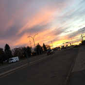 Becoming nighttime in camrose