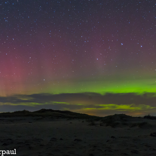northern lights @ richibucto dunes north side 128 Island Dr, New Brunswick E4W, Canada