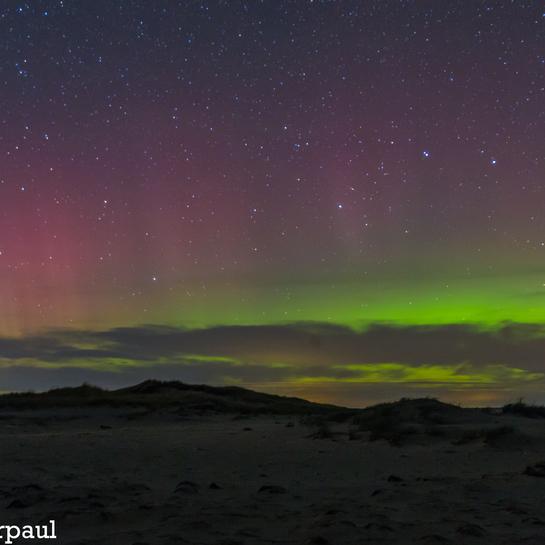 northern lights @ richibucto dunes north side 128 Island Dr, New Brunswick E4W, Canada