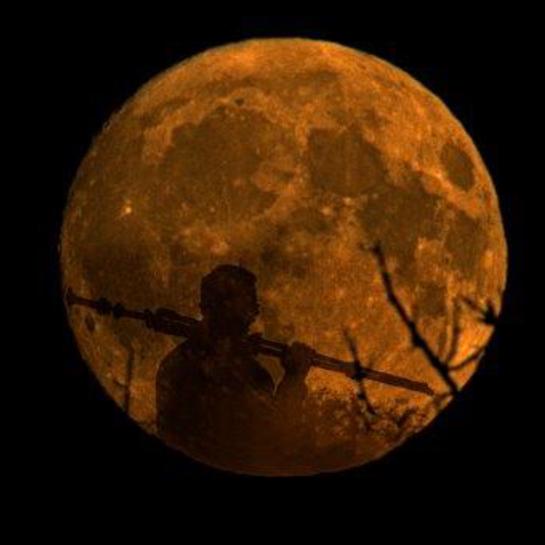 Man in the moon Sherwood Park, Alberta, CA