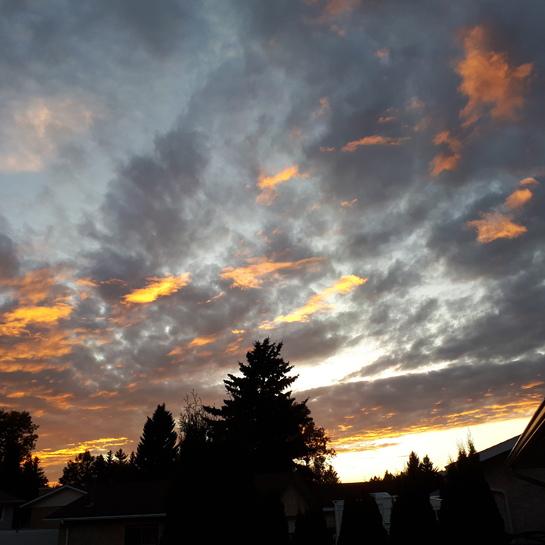 great sun set Fort Saskatchewan, AB