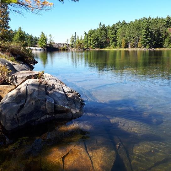 Last fishing trip of the year [sob sob] near Picnic Island, Lake Penage Lake Panache, Sudbury District, ON