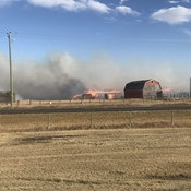 Fire in Airdrie, AB
