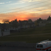 Smoke from the wildfire in Leader can be seen in Swift Current