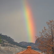 Morning rainbow over Summerland