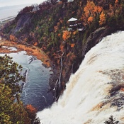 Autumn in full swing at Montmorency Falls
