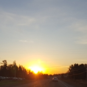 sunrise between Pembroke and Petawawa ON thia morninh