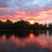 Sunrise on Mississippi River in Carleton Place