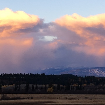 Angry sky over Cranbrook BC