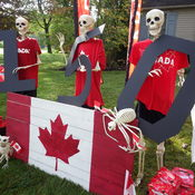 Skeletons celebrating Canada 150