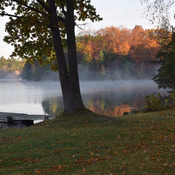 Foggy morning on Dog Lake