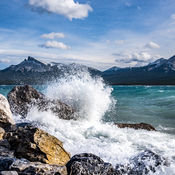 The High Winds At Abraham Lake
