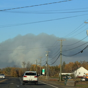Big brush fire in the Sheffield and Burton, New Brunswick area today!