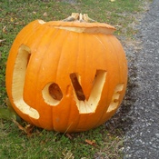 Lovely pumpkin carving