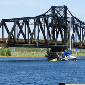 This the only swing bridge left in canada. Have to it to get to Manitoulin Islan
