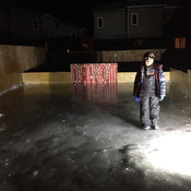 Ice rink in the making