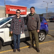 The Wind Is Picking up this Morning Spending the day with Nathan Coleman.