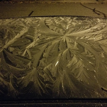frosty car roof