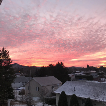 Beautiful morning sky before snow storm