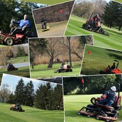 It takes a team of dedicated workers to maintain a golf course.