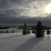 Winter over the prairies