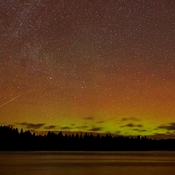 "Meteor ""Caught in Aurora"""
