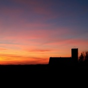 Little farm sunset