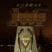 Warman Train Sign