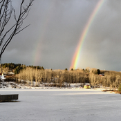 Rainbow over Pederson Reservoir.