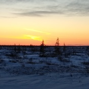 sunset in Churchill