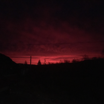 Beautiful red sky