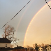 Sunset and Double Rainbows