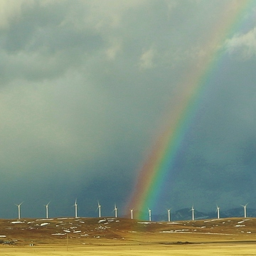 Windmills & a Rainbow