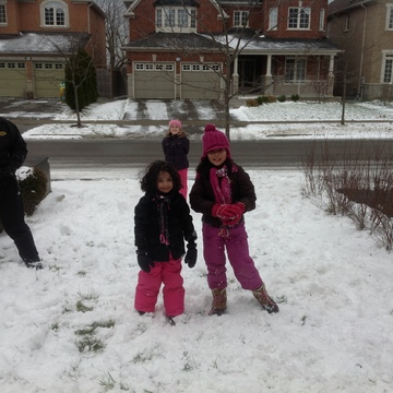 Kids out in the snow