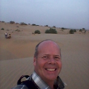 On Camel Safari in Rajahstan, India.