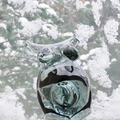 Art & Nature Winter Glass Woman with Child