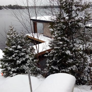 Fresh Snow at Muskoka Lake