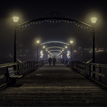Heavy Fog on the Pier
