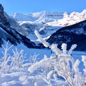 A December winter day at Lake Louise