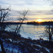 Selkirk Manitoba at Sunset the beauty of winter in Manitoba!
