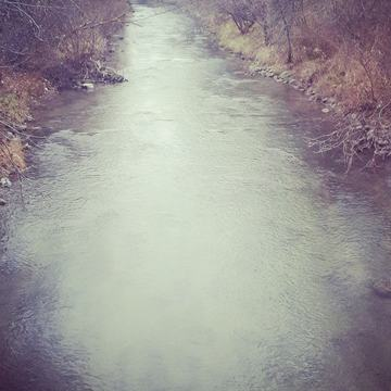 cold winter stream