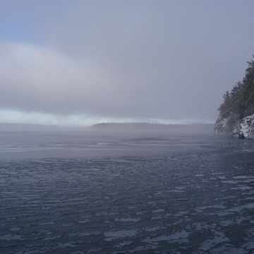 Lake Temagami trying to freeze!
