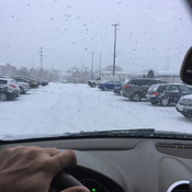First Snow in a parking lot of Mississauga ON