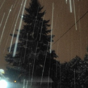 capturing the snow fall at night