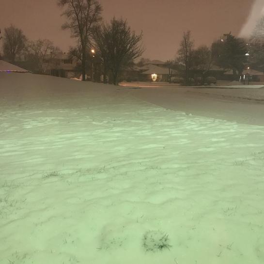 Snowing Mount Olive-Silverstone-Jamestown, Ontario, CA