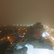 DECARIE SNOW STORM BEGINS