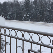 Snow to date in Shawville, Quebec.